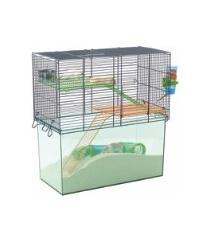 Habitat Gerbil&Hamster 26X52X52,5 Blå Wire