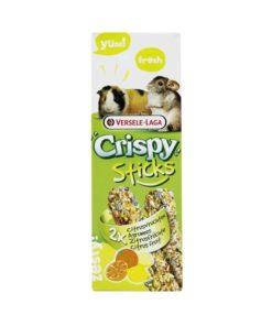 CRISPY STICKS V-L, Sitrusfrukt, Marsvin/Chinchilla 2Stk./110g.