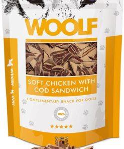 WOLF Soft Chicken with Cod sandwich, 100g.