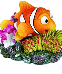 AKVARIEDEKOR Klovnefisk m/korall 12x10cm.
