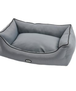 BUSTER Sofaseng 70x90cm, Steel grey/svart kant
