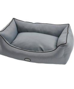 BUSTER Hundeseng 45x60cm Steel grey/sort søm