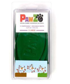 PAWZ hundesko, X-large, 12,7 cm (mørkegrønn)