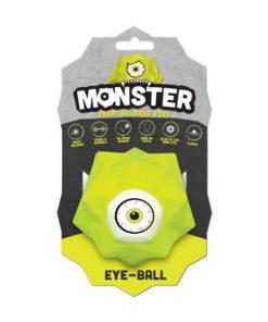 Monster Eye-ball, tyggeleke, gul str. L, 7,6cm