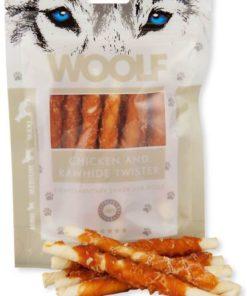 WOOLF Chicken & Rawhide Twister, 100g.