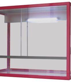 Terrarium Aluminium rosa m/LED, 65x34x50cm, 110L