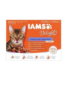 IAMS Delights, Land & Sea collection, in Gravy, 12x85g.
