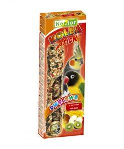 Nestor Sticks for mellomstore papegøyer/parakitter, frukt,  115gr
