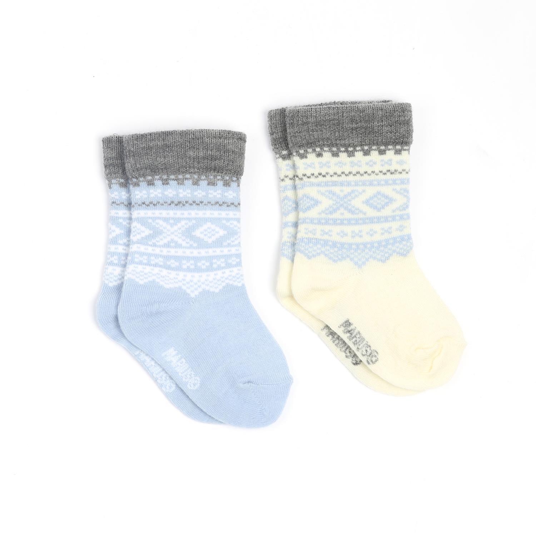 Marius Kids Baby Socks 2 pack Baby Blue