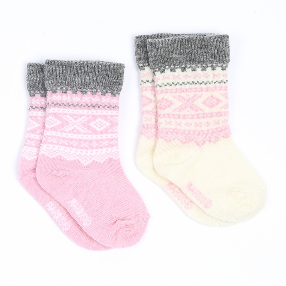 Marius Kids Baby Socks 2 pack Lotus Pink