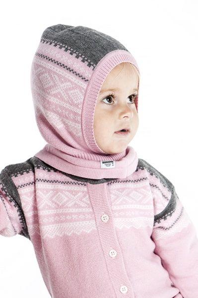Marius Kids Wool Balaclava Lotus Pink