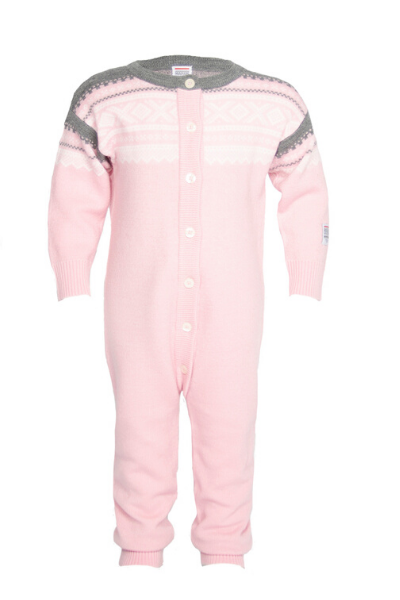 Marius Kids Wool Playsuite Lotus Pink