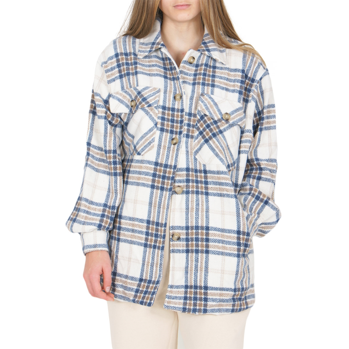 TUIS BLUE CHECK JACKET- GRUNT