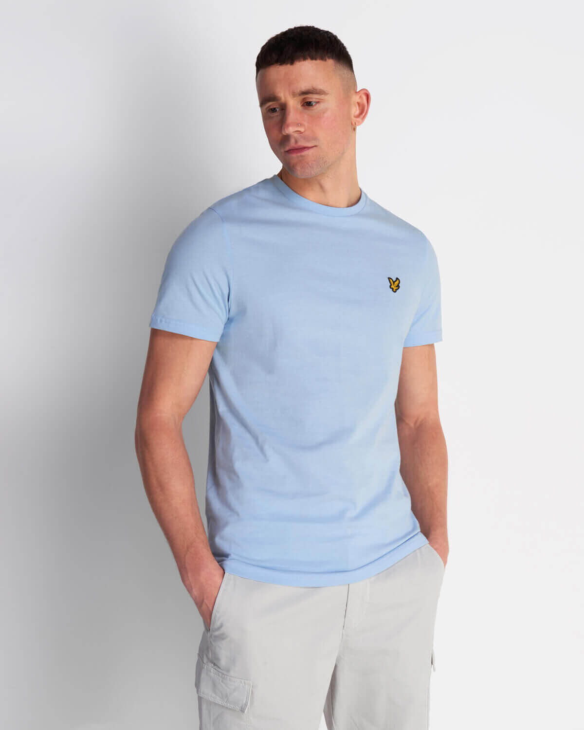 PLAIN T-SHIRT DECK BLUE - LYLE & SCOTT