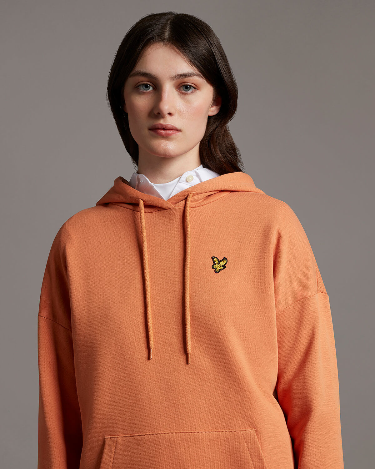 HOODIE DUSK ORANGE - LYLE & SCOTT
