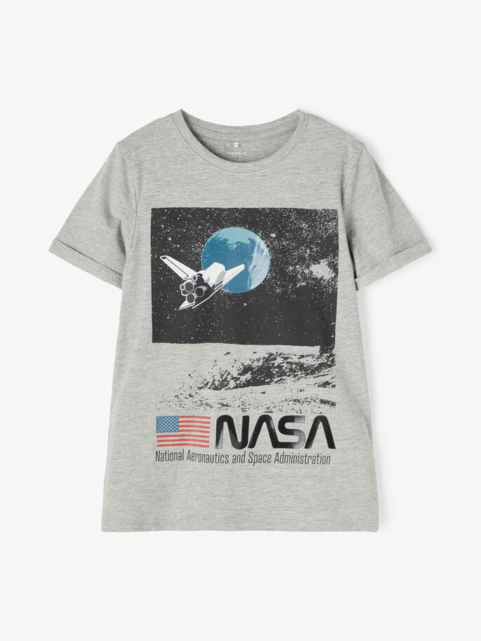NASA OBERT TOP GREY MELANGE - NAME IT