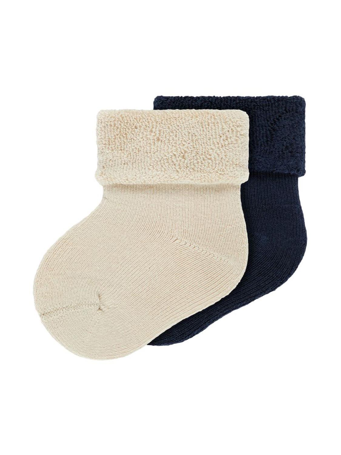 FARONNE 2PK TERRY FROTE SOCK - NAME IT