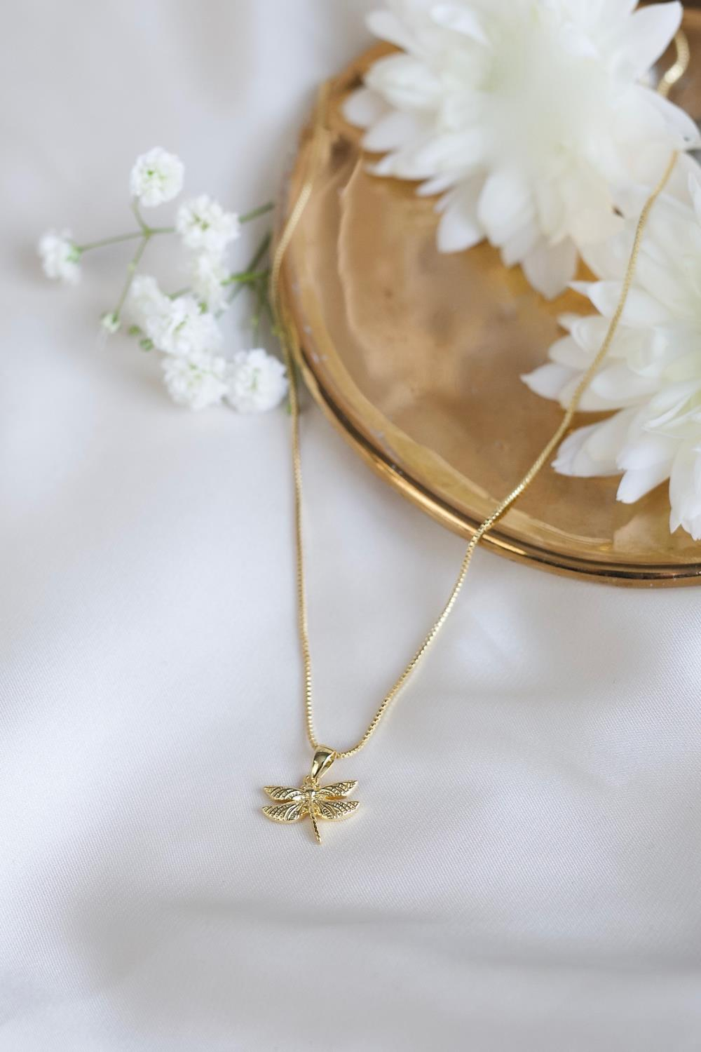 DRAGONFLY NECKLACE GOLD - SECRETS BY B