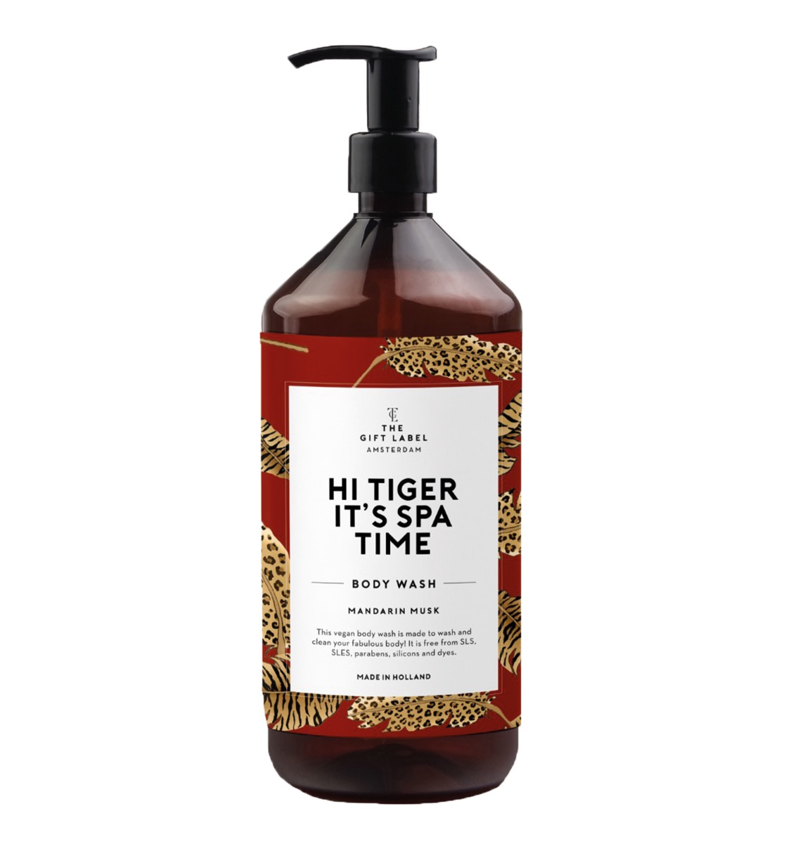 "BODY WASH ""HI TIGER ITGER IT'S SPA TIME"" - THE GIFT LABEL"