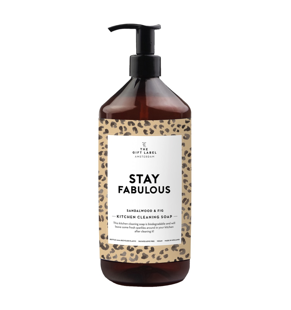 "KITCHEN CLEANING SOAP ""STAY FABULOUS"" - THE GIFT LABEL"