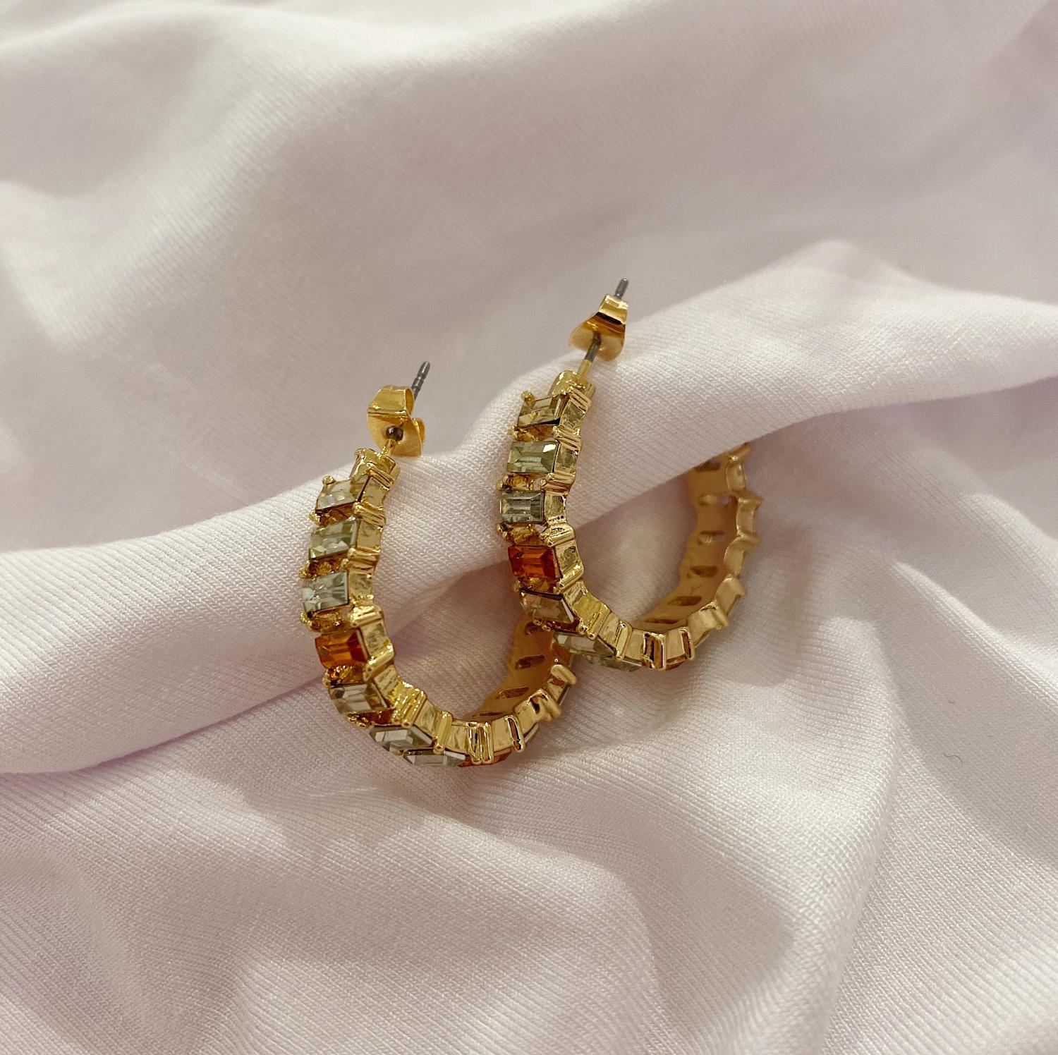 LINDA CREOL EARRINGS MIXED GOLD - PIECES