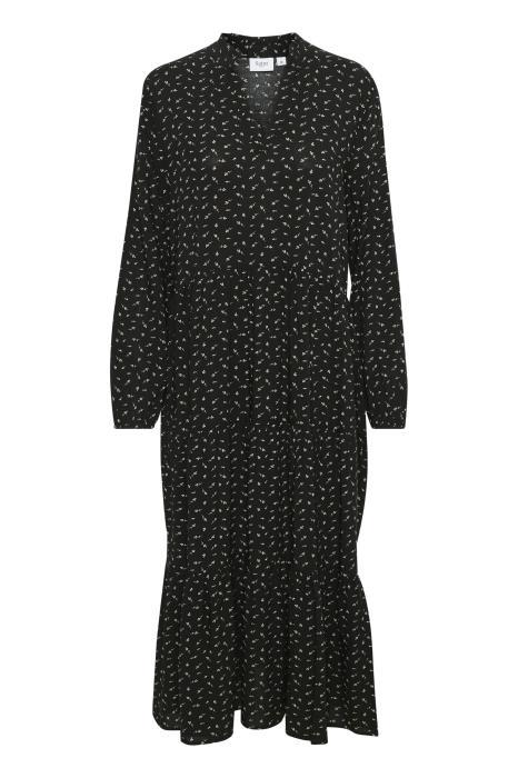 EDA MAXI DRESS BLACK FLOWER BRANCHES - SAINT TROPEZ