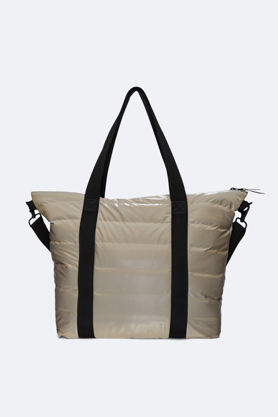 TOTE BAG QUILTED BLACK/TAUPE - RAINS(3538)