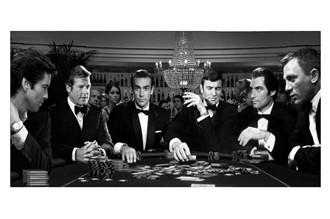 Glass picture All James Bond casino