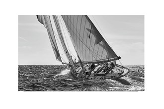 Glass picture sailboat