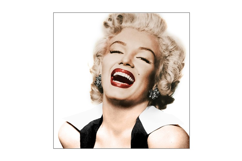 Glass picture Marilyn Monroe