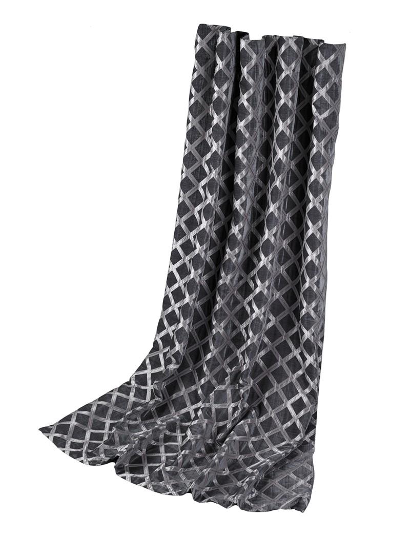 Gardinhøyde 130cm x 240cm 15cm rynkebo m/fòr Austen Charcoal