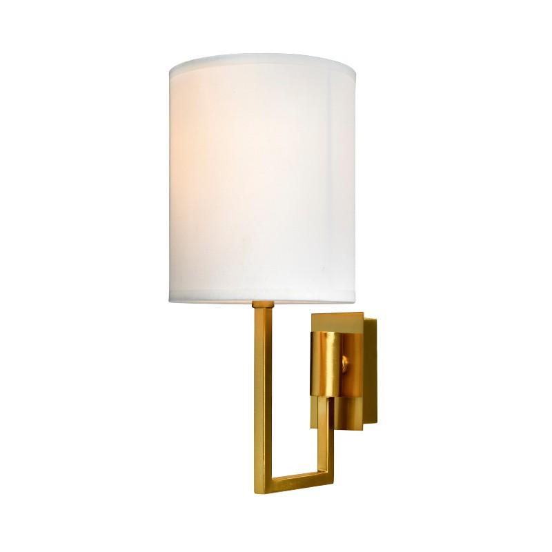 Vegg lampe Dublin  gull med hvit skjerm