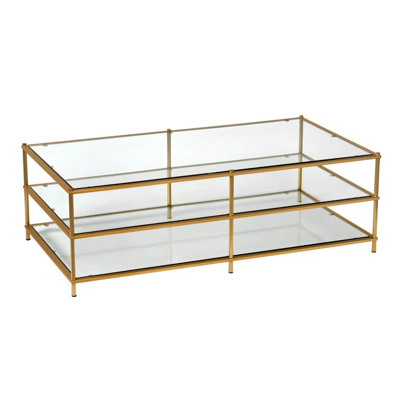 Salongbord Palermo Gold / Glass