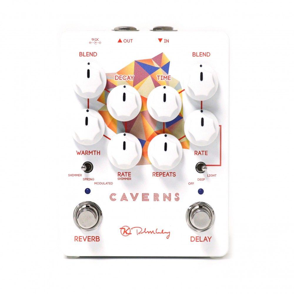 Keeley Caverns Delay/Reverb V2 Delay pedal with Modulation. Spring, Shimmer and Modulated Reverb