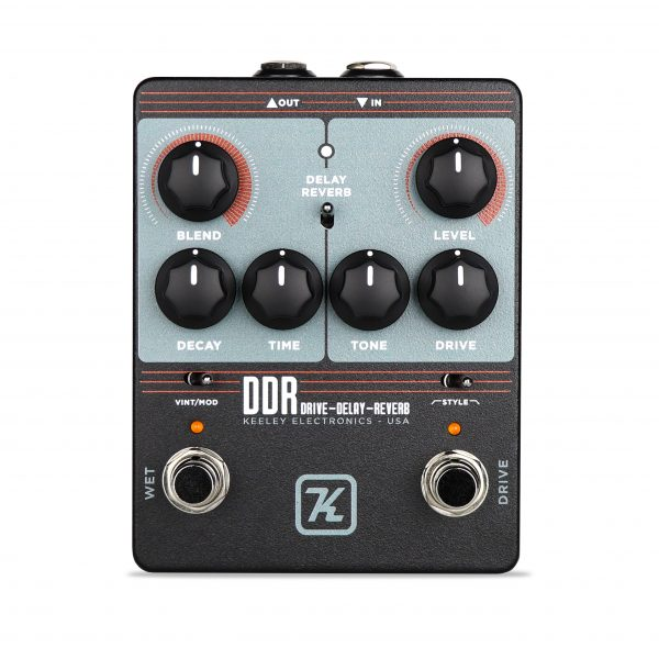Keeley DDR-Drive-Delay-Reverb Custom Drive pedal with Delay or Reverb