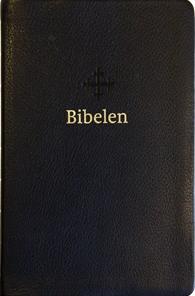 Bibel 2011, mellomstor utgave i sort skinn