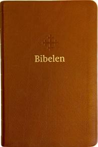 Bibel 2011, mellomstor utgave i lysbrunt skinn