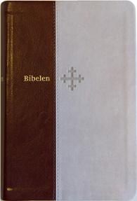 Bibel 2011, mellomstor, beige/brunt kunstskinn