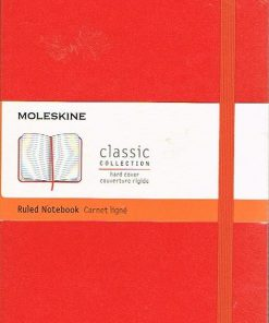 Moleskine Red Ruled Notebook Large