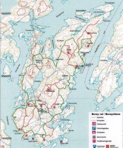 Kart Borøystiene A4 laminert