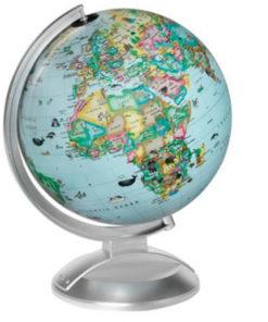 Globus 25cm med LED lys