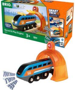 BRIO World Smart Tech Sound - Opptaker og avspiller-lokomotiv
