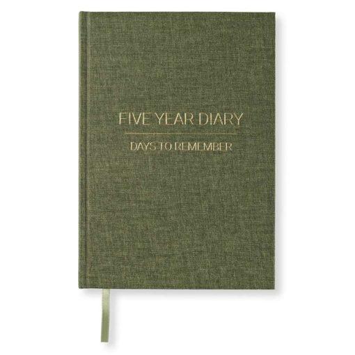 Fem års dagbok / planlegger – Grønn