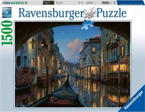 Ravensburger puslespill 1500 brikker - Gondoltur i Venezia