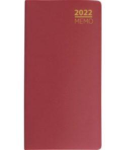 Lommekalender GRIEG Memo 2022 plast burgunder