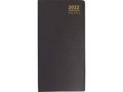 Lommekalender GRIEG Memo 2022 plast sort
