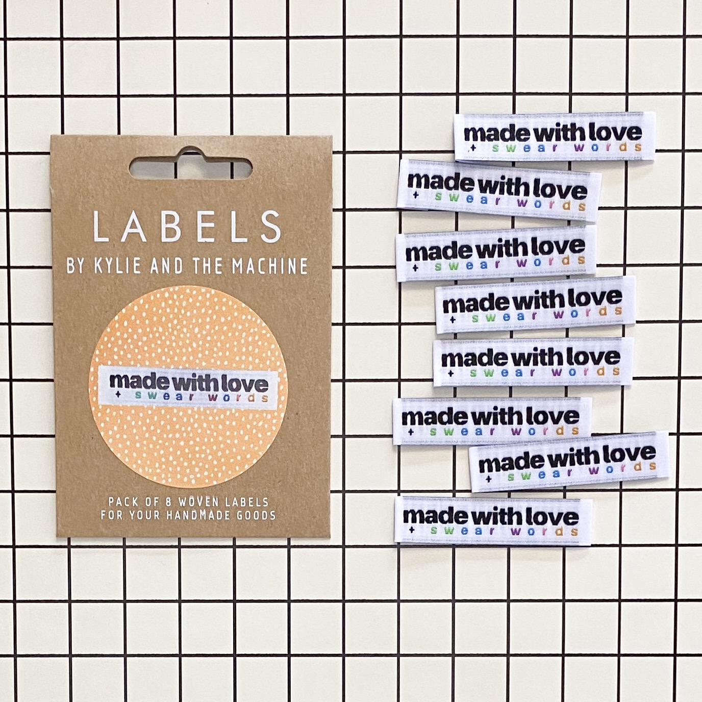 Label - Made with love + swearwords