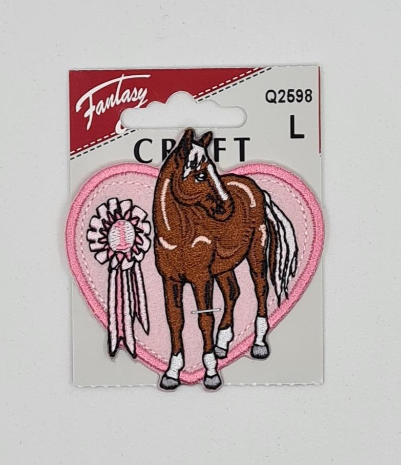Rosa hjerte med hest