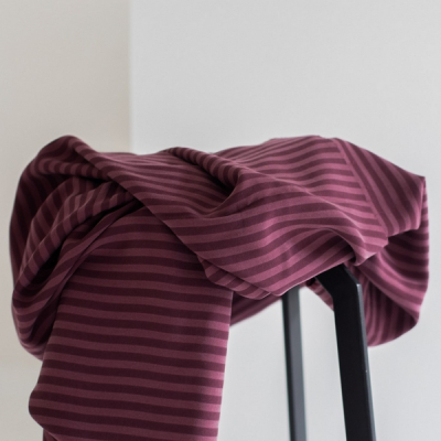 meetMILK - Twill - Stripe Maroon