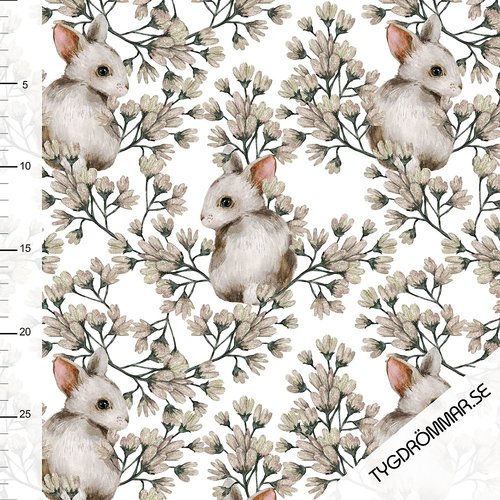 Tygdrömmar - Bunnies white
